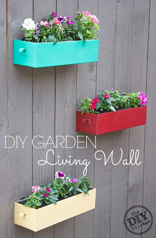 DIY Garden Living Wall Planters