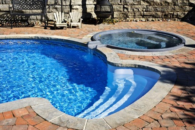 This Is One Of The Most Unique Inground Pool Patio Ideas You Could Try.  Create Beautiful Texture And Design By Utilizing Tiles To Create A  Mosaic Like ...