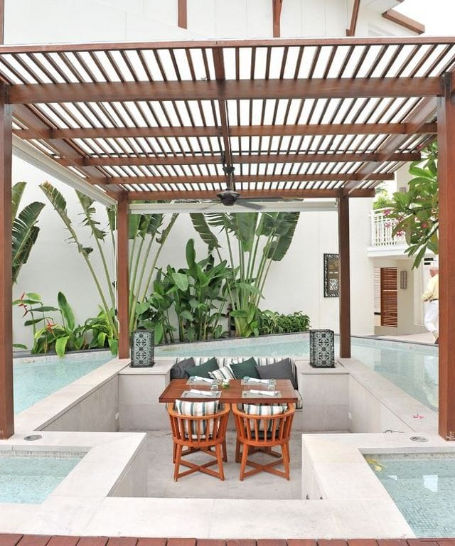 16 Beautiful Pool Patio Designs & Ideas on Covered Pool Patio Ideas id=38395