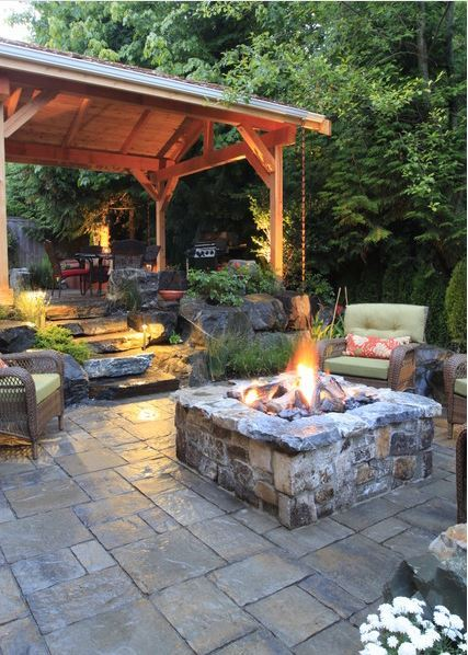 Backyard Fire Pit. Learn More
