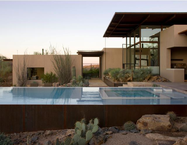 Backyard Rectangular Pool Landscape