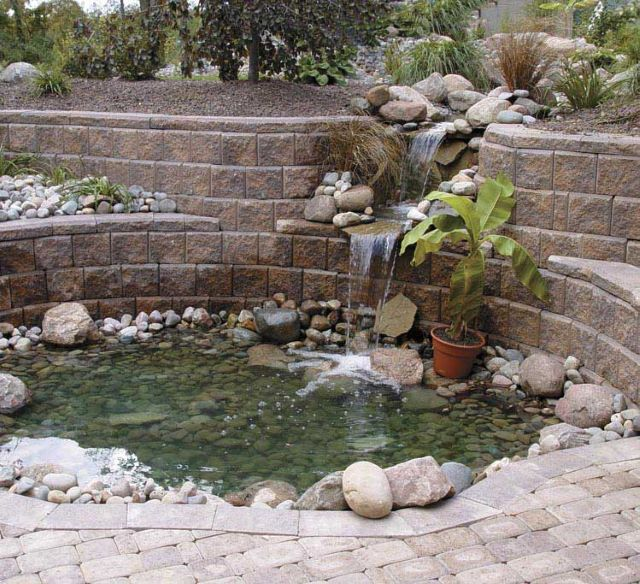 Pond with Retaining Wall