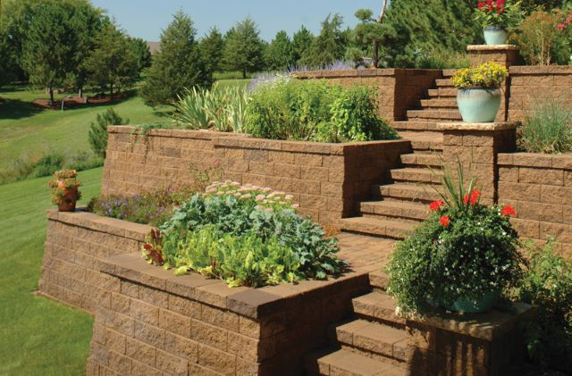 Stacked Planters and Walls