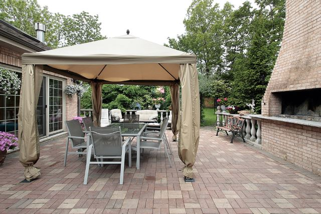 amazing small paver patio ideas #Brick #Patio #BrickPatioDesign