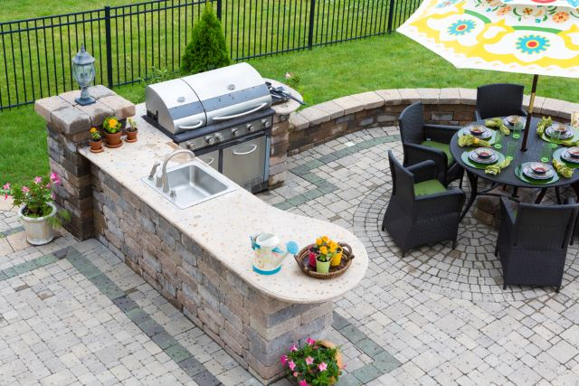 awesome small paver patio #Brick #Patio #BrickPatioDesign