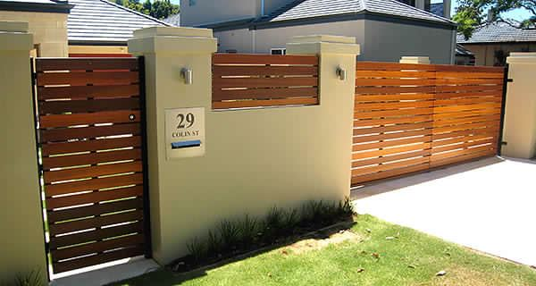 Slatted Sliding Fence