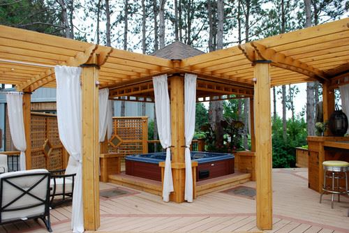 Pleasing 31 Awesome Hot Tub Enclosure Ideas 22 Is The Coolest Ever Home Interior And Landscaping Spoatsignezvosmurscom