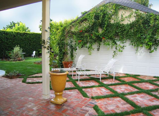 amazing simple paver patio #Brick #Patio #BrickPatioDesign