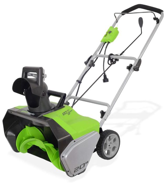 GreenWorks 2600502 13-Amp 20-Inch Corded Snow Thrower