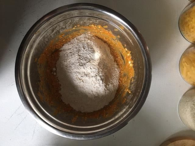 Mixed Dry Ingredients to Wet Mixture