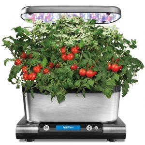 AeroGarden Harvest Elite with Gourmet Herb Seed Pod Kit, Stainless Steel