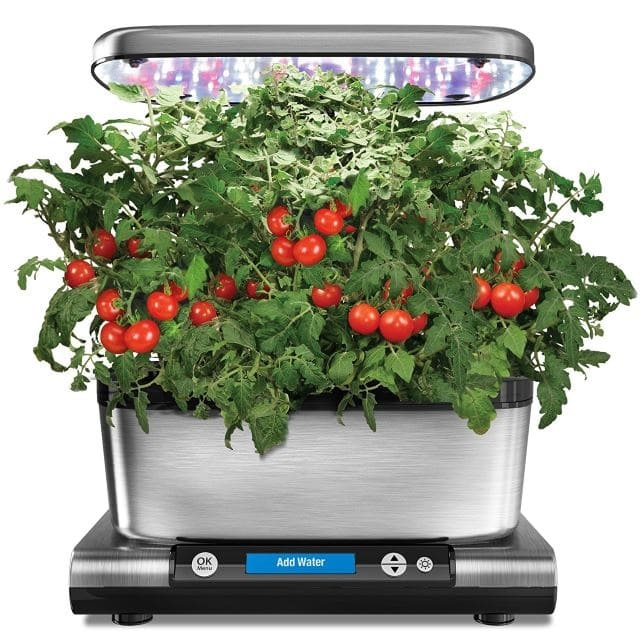 AeroGarden-Harvest-Elite-with-Gourmet-Herb-Seed-Pod-Kit-Stainless-Steel