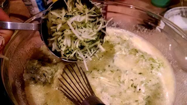 Fold in Shredded Zucchini
