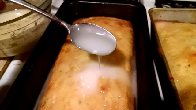 Pour Glaze Over Warm Bread
