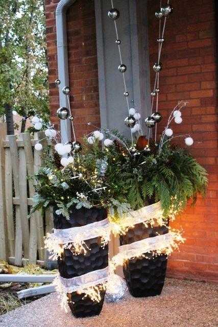 Modern Christmas Planters