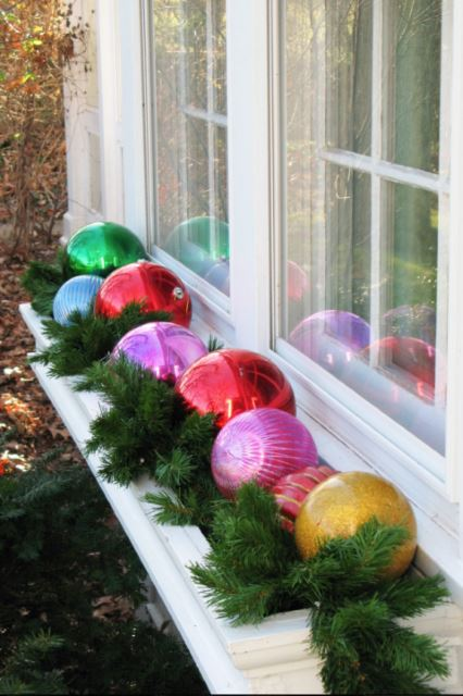 Windowsill with Baubles