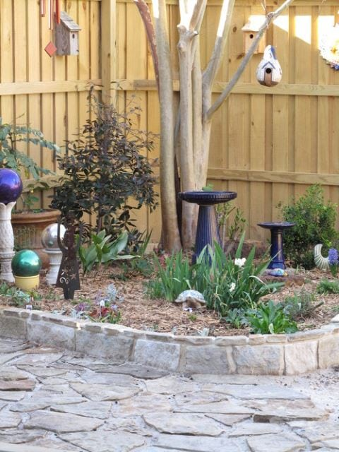 Black Textured Bird bath