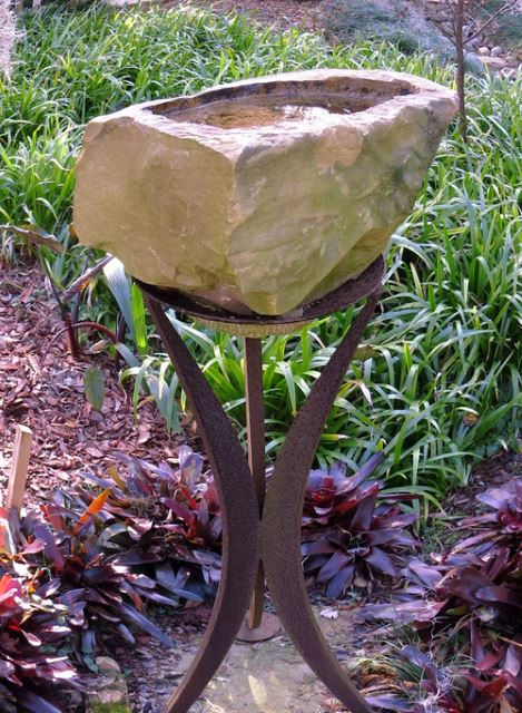 Rock Bird bath