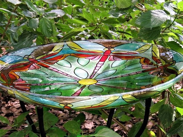 Dragonfly Bird Bowl