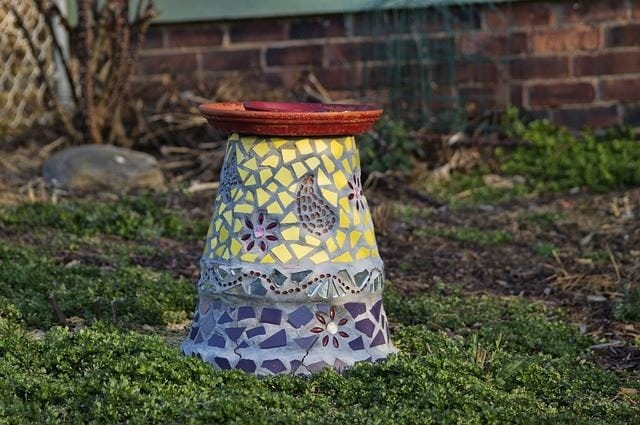 Mosaic Bird bath Stand