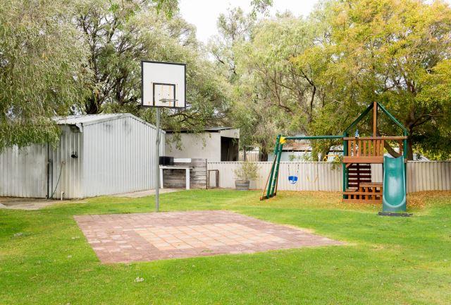 kids playground on garden