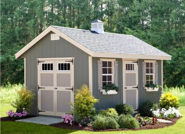 Shed Cabin Style Building Plans 12 16