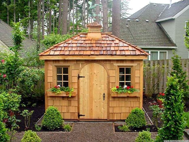 Simple Wooden Shed
