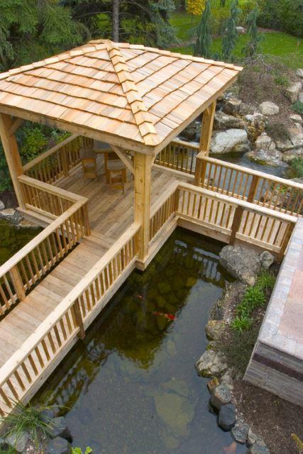 55 Backyard Bridge Ideas Tranquil, Diy Garden Pond Bridge