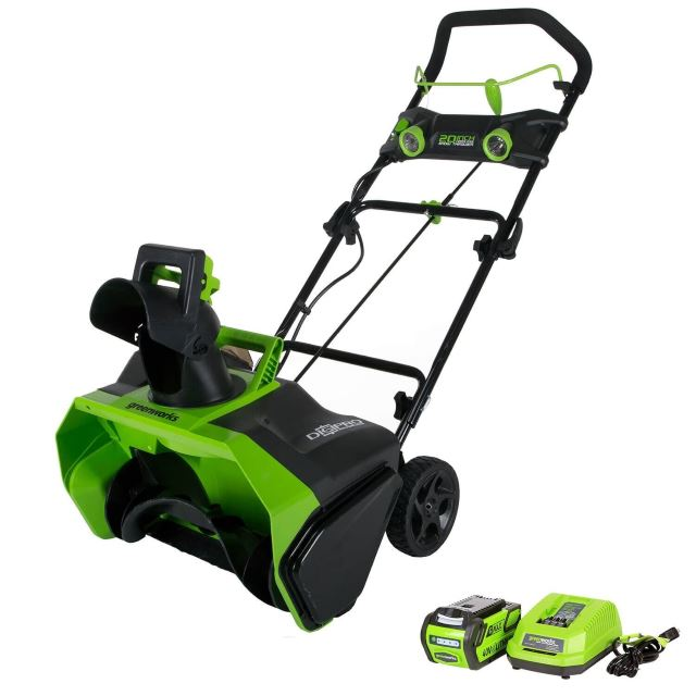 Greenworks model 20-Inch 40V Cordless Snow Thrower, 4.0 AH Battery Included 26272