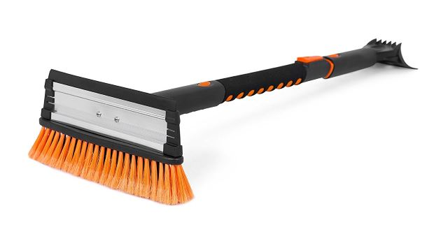Snow Moover 39 Extendable Snow Brush with Squeegee & Ice Scraper