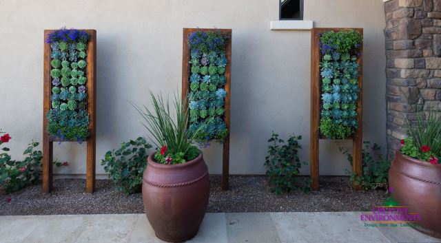 Paneled Vertical Wall Garden Blocks