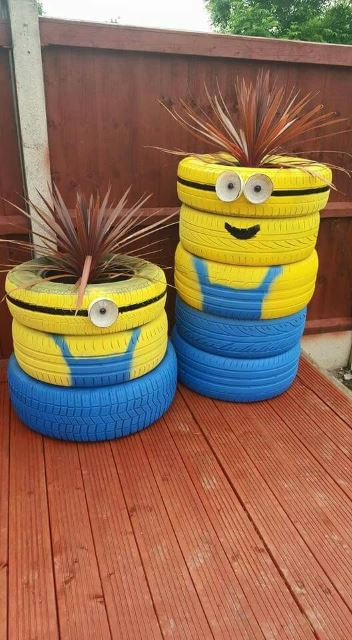Tire Cartoon Characters