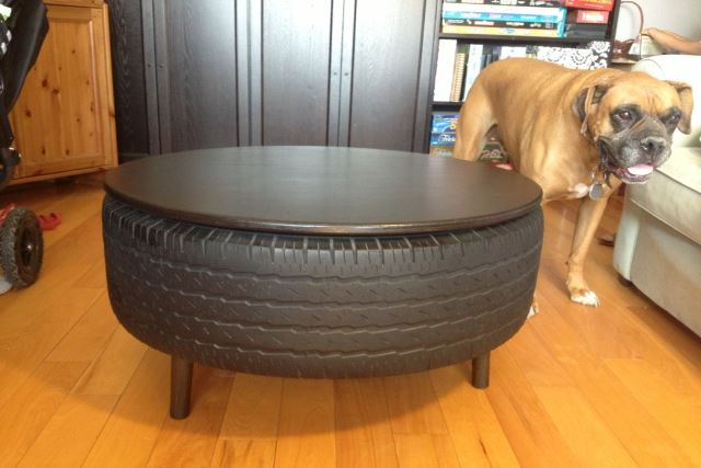 car tire coffee table