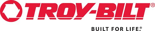 Troy-bilt logo in a white background.