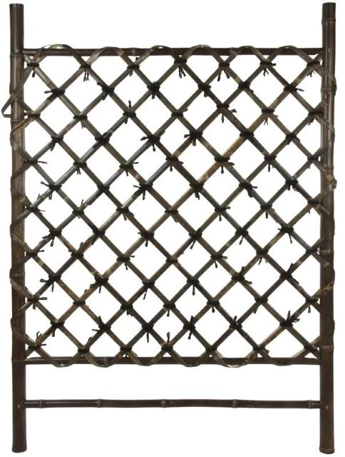 Japanese Wood Lattice Trellis