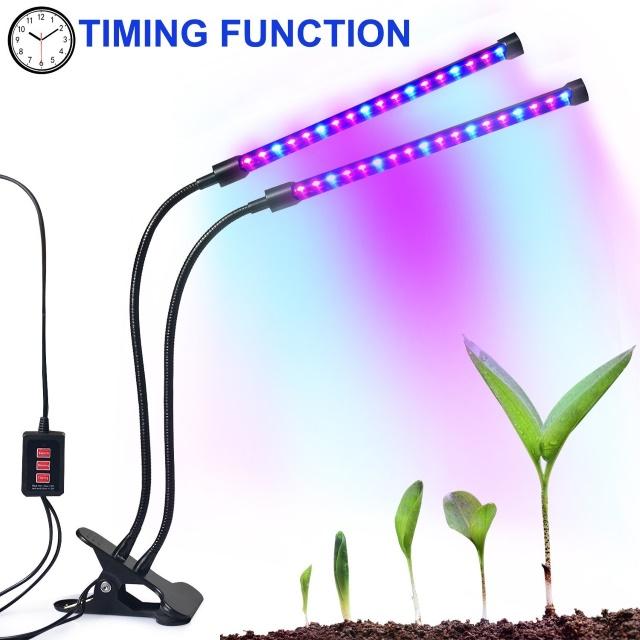 Autien Dual-Lamp Full Spectrum Grow Light