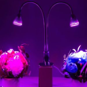 Newhouse Lighting Dual Head LED Clamp Grow Light 1