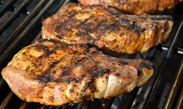 Beer Brined Pork Chops