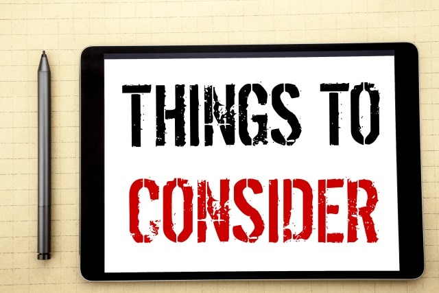 Things to Consider 3d Red Words Remember Important Advice Before