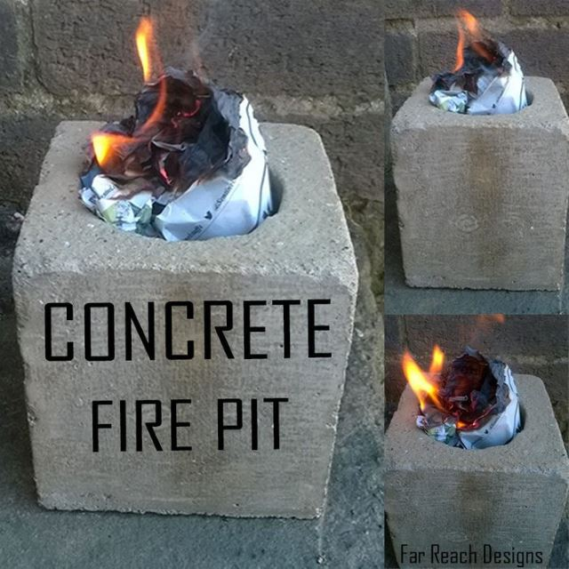 26. Concrete Fire Pit