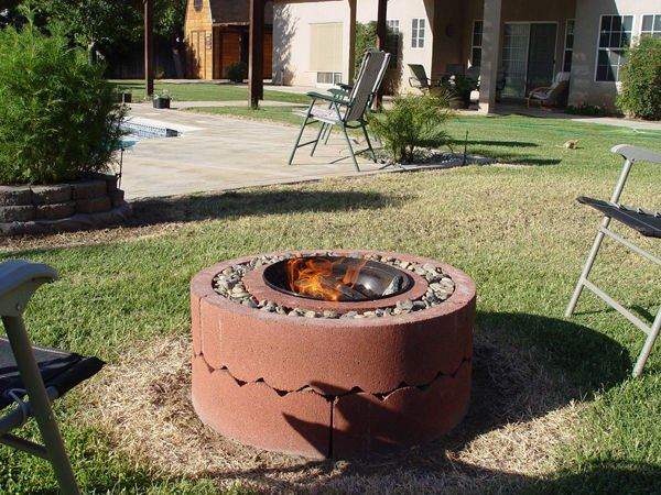 59. Concrete Tree Ring Fire Pit