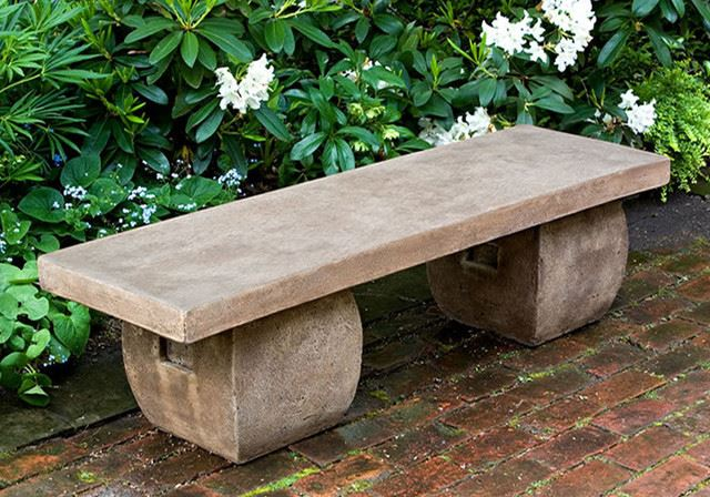 62. Short Concrete Bench
