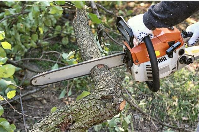 Pinched Chainsaw