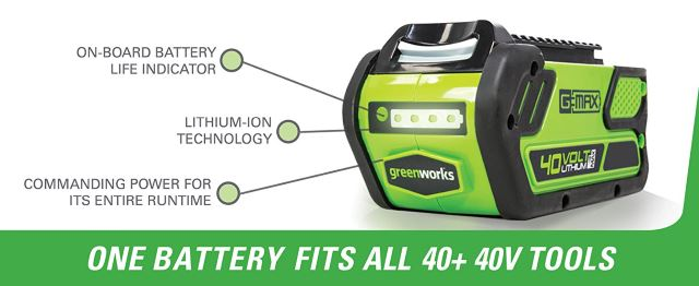 40 Volt, Rechargeable Lithium-Ion Battery