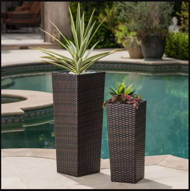 Wicker Planter Set