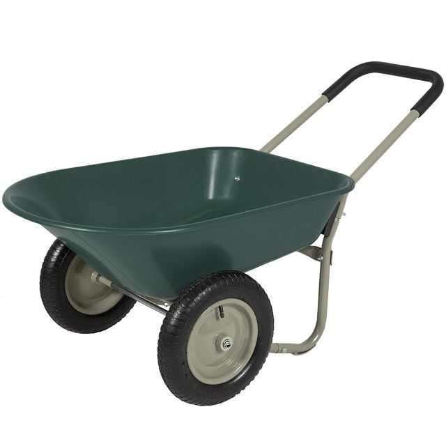 Dual Wheel Garden Wheelbarrow