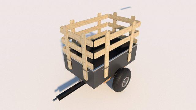 DIY Garden Tractor Trailer