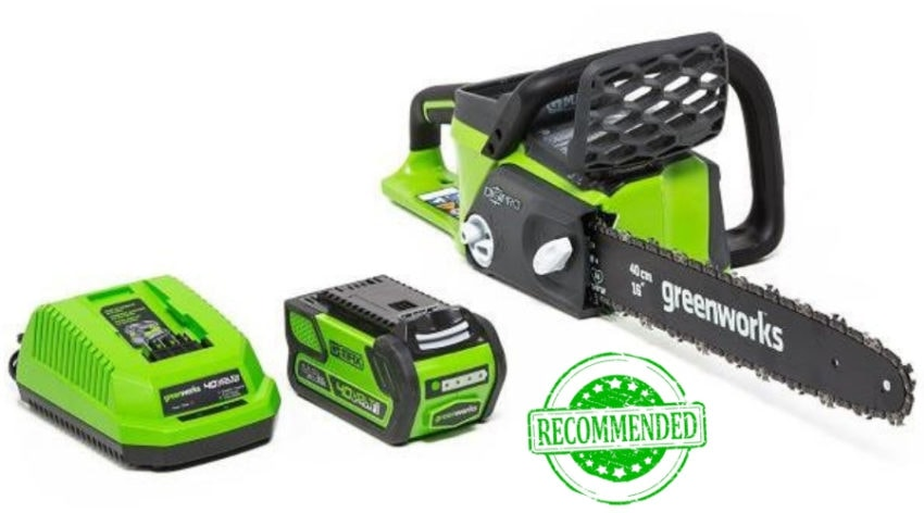 Featured Image - GREENWORKS 40 VOLT, 16-INCH CHAINSAW REVIEW
