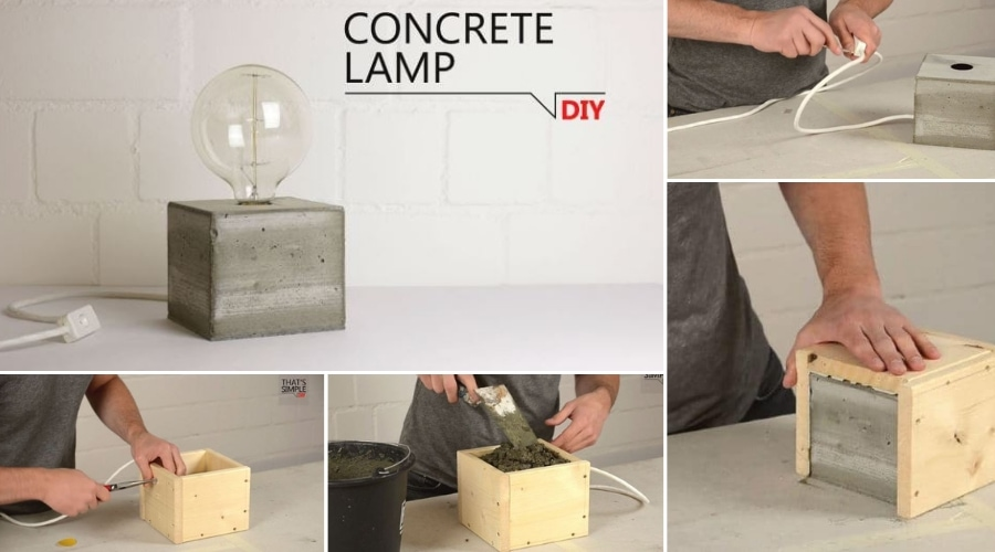Featured Image - HOW TO MAKE A CONCRETE LAMP BASE