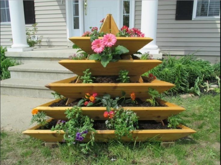 Triangular Shape Flower Planter